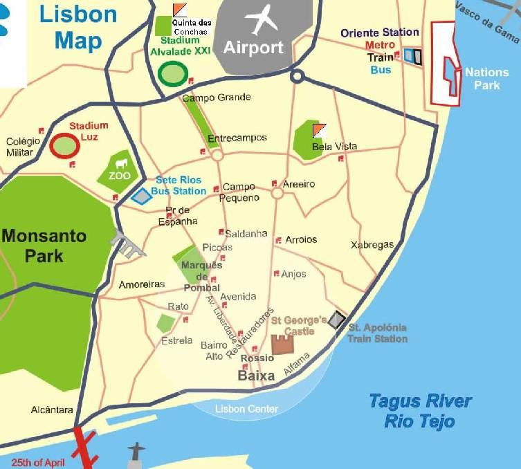 bela vista lisboa mapa CPOC Online   Troféu de Orientação Jardins de Lisboa bela vista lisboa mapa