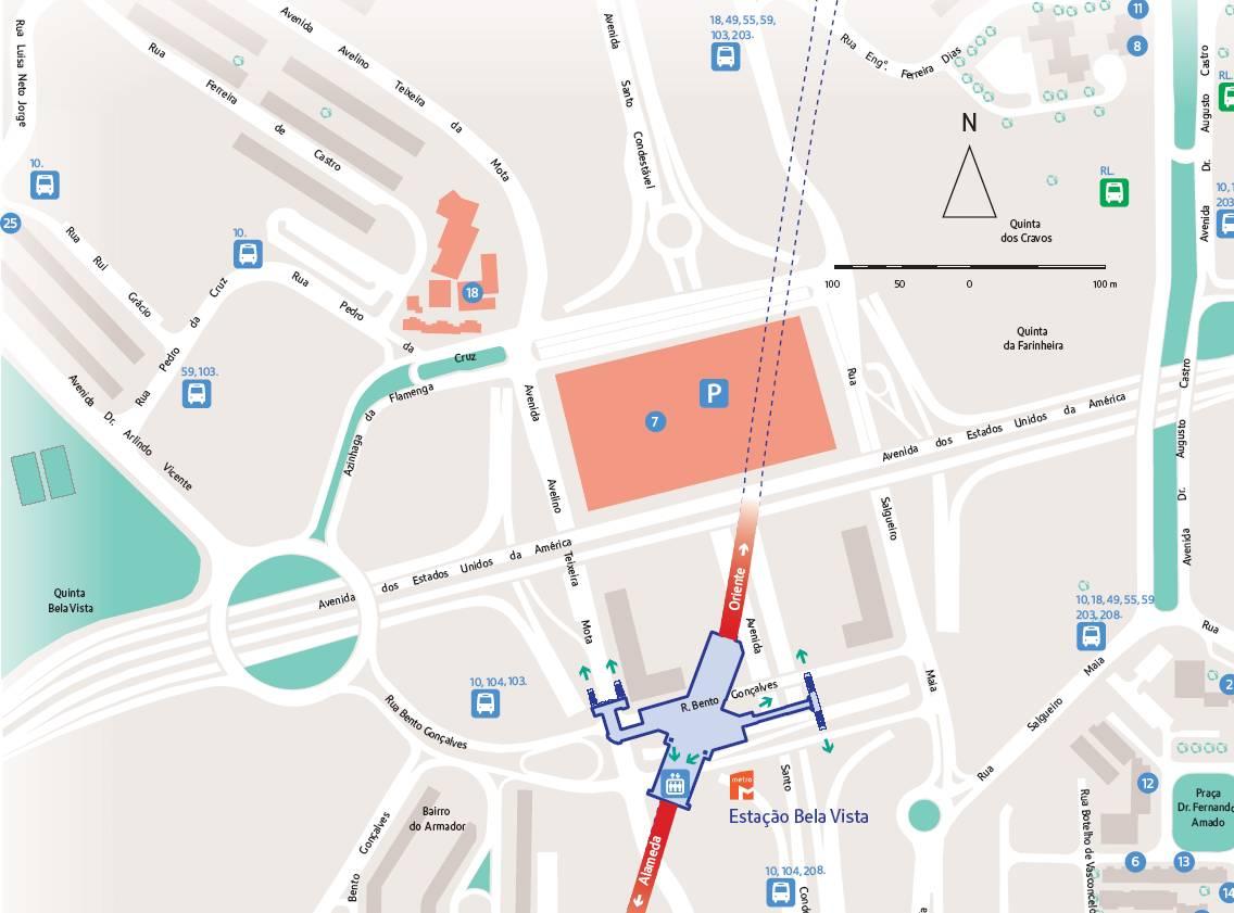 metro bela vista mapa CPOC Online   Troféu de Orientação Jardins de Lisboa metro bela vista mapa
